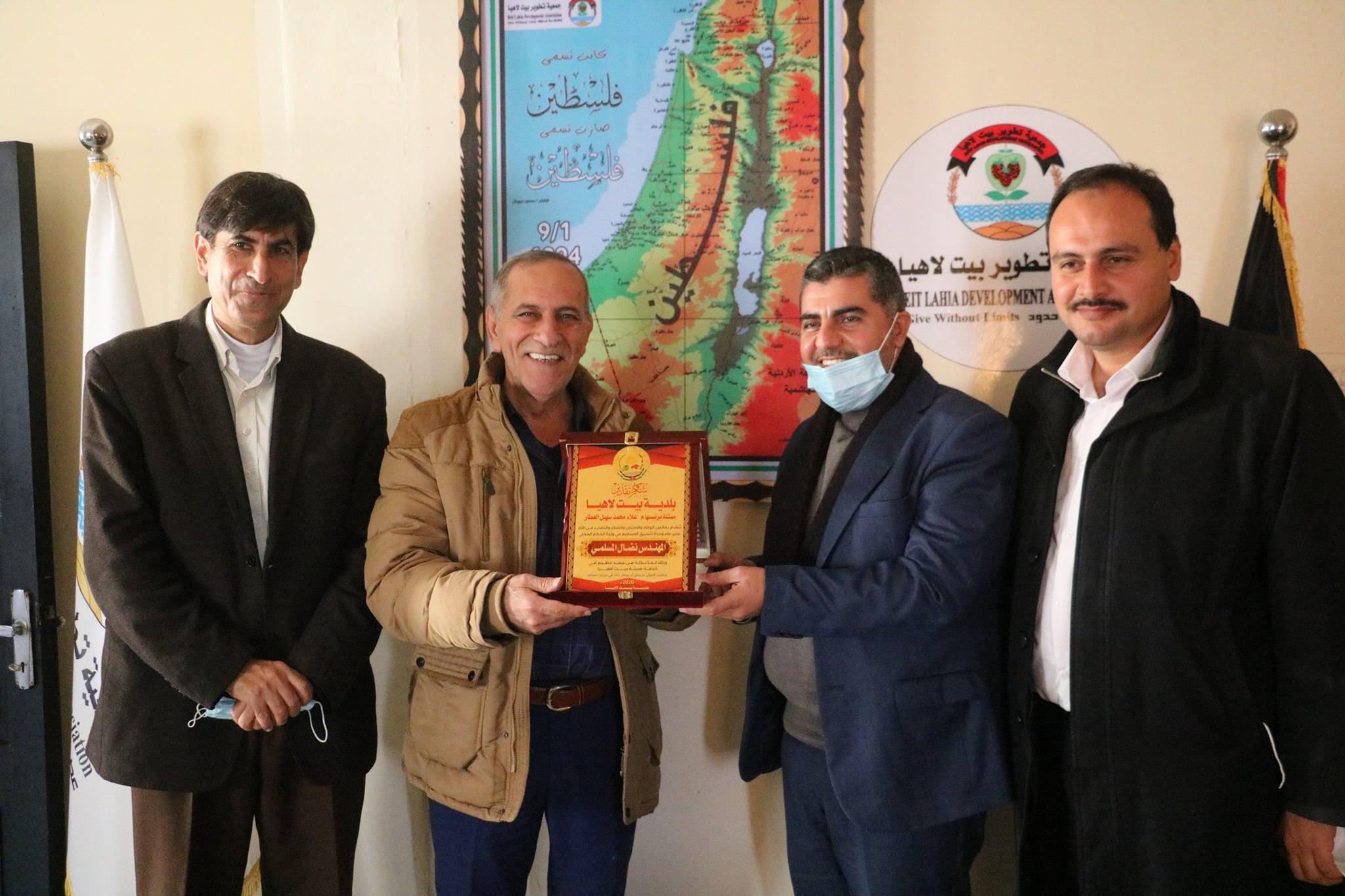 جمعية تطوير بيت لاهيا تستقبل وفدا زائراً من بلدية بيت لاهيا